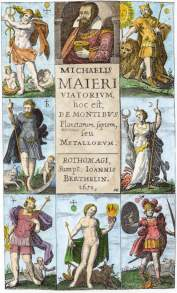 From Michael Maier Viatorium De Montibus Planetarum Septem Seu Metallorum 1651, Alchemical And Hermetic Emblems 1